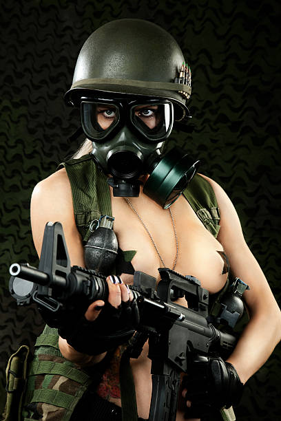 Pics of naked women with guns