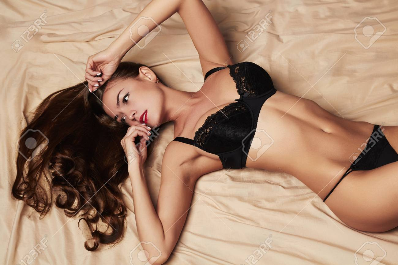 Hot lady on bed